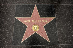The star of Jack Nicholson Royalty Free Stock Photo
