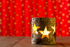 Star jar candle holder Royalty Free Stock Photography