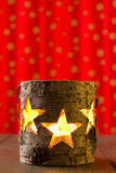 Star jar candle holder Stock Photos