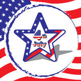 Star  for 4 July American Independence Day,  on fl Stock Images