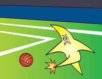 Star Kicking Ball Stock Photo