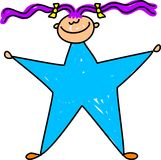 Star kid Stock Photo