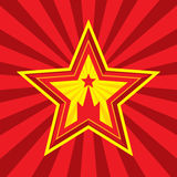 Star with Kremlin symbol - vector concept illustration in Soviet Union agitation style. Stock Photos