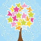 Star l'arbre illustration stock