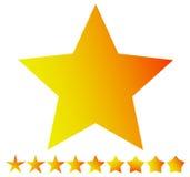 Star la forma con le versioni sottili e spesse - Star l'icona, simbolo della stella Immagine Stock Libera da Diritti