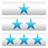 Star la valutazione con 3 stelle - Star i pannelli di valutazione Immagine Stock Libera da Diritti