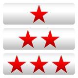 Star la valutazione con 3 stelle - Star i pannelli di valutazione Immagine Stock