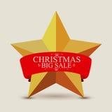 Star label christmas Stock Image