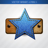 Star label design Stock Photos