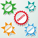 Star Labels Gratis Royalty Free Stock Photography