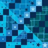 Star ladder platform seamless pattern Stock Image