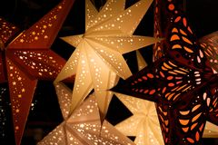 Star lanterns. A background of star lanterns Stock Images