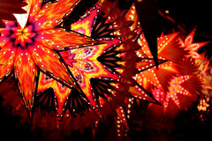 Star Lanterns. Star shaped lanterns lit on the festive occassion of Christmas / Diwali in India Royalty Free Stock Photos
