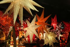 Star lanterns. A background of star lanterns. Star lanterns . A background of star lanterns royalty free stock photo