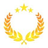 Star laurel golden wreath Stock Images