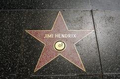The star of legendar musician Jimi Hendrix Stock Image