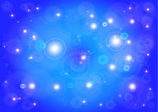 Star with lens flare. Abstract .Vector star blue background Stock Images