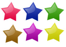Star les boutons Images stock