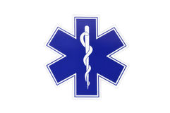 Star of life. A picture of symbol star of life royalty free stock photo