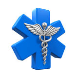 Star of Life Caduceus Symbol Stock Photography