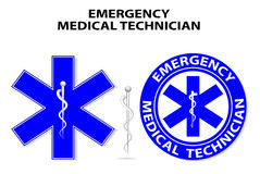 Star of Life. Emergency medical technician.  global symbol of emergency medical service. Paramedic Medical Designs Royalty Free Stock Image