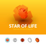 Star of life icon in different style Stock Image