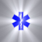 Star of life symbol light flare Stock Photos
