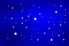 Star Light. Is hand drawn original artwork.  The vector file uses a gradient mesh and is in AI-EPS8 format Royalty Free Stock Photo