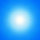 Star of light on a blue background Stock Image