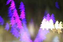 Christmas tree light bokeh. Star light bokeh, abstracts background, backdrop, celebrate, sparkle, Christmas, colorful, xmas, party royalty free stock photo
