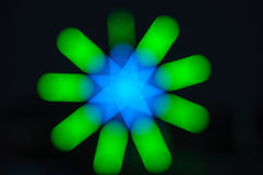 Star light. Star defocused light  at night Royalty Free Stock Image