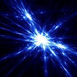 Star light fireworks. Blue light star effects. Abstract shine wires. Fireworks Stock Images