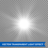 Star light outburst with lens flare effect Royalty Free Stock Image