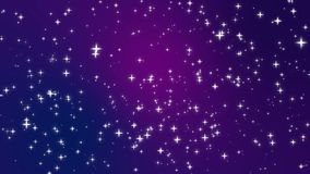 Star light particles moving across purple background. Sparkly light star particles moving across a purple blue pink gradient background imitating night sky full stock video