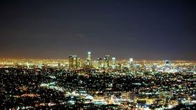 Star light trails over la stock video footage