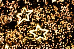 Star lighting blurred bokeh abstract background.  Royalty Free Stock Photo