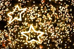 Star lighting blurred bokeh abstract background.  Stock Photography