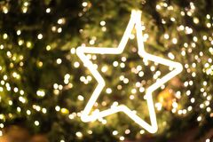 Star lighting blurred bokeh abstract background.  Royalty Free Stock Photos