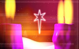 Star with lighting candle Royalty Free Stock Photo