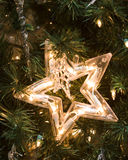Star with Lights Christmas Ornament Stock Images