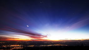 Star lights should leave traces of cities. Time La stock video footage