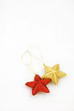 Star like christmas ornaments Royalty Free Stock Photos