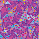 Star line colorful star style purple seamless pattern Royalty Free Stock Photo