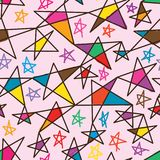 Star line free color seamless pattern Royalty Free Stock Photography