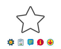 Star line icon. Best rank sign. Royalty Free Stock Photos