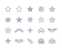 Star line icons. Premium sparkle symbols set, falling shooting stars favorite or like icon, premium quality. Vector star vector illustration