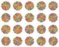 Star line ray colorful 20 set royalty free stock image