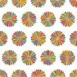 Star line ray colorful symmetry seamless pattern royalty free stock photo