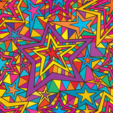 Star 5 line seamles pattern. This illustration is design abstract tribal full page with colorful star in seamless pattern royalty free illustration