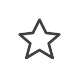 Star line simple icon